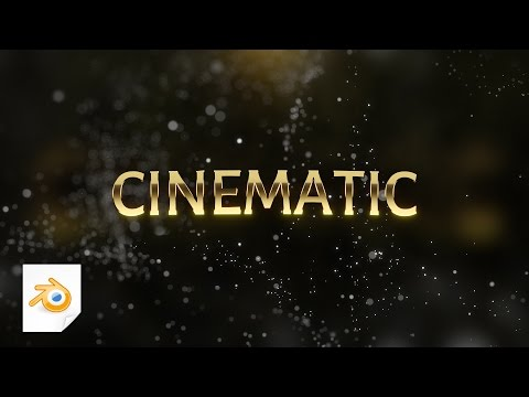 Blender tutorial: How to make a cinematic particle intro