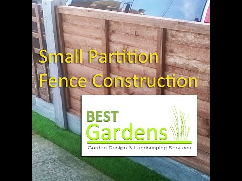 Small Partition Fence Construction