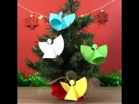 Make easy paper Christmas angels