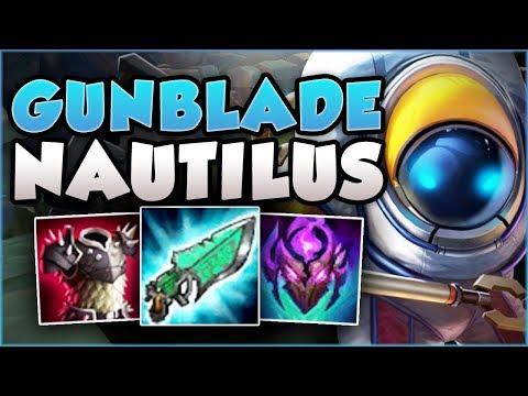 GUNBLADE NAUTILUS TOP! TOO TROLL OR 200 IQ?? NAUTILUS SEASON 8 TOP GAMEPLAY! - League of Legends