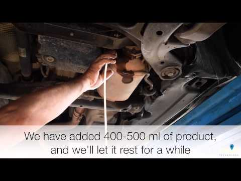 How to solve DPF problems - Audi Q7 - DPF Cleaning and Complete Service with the Blue Additives