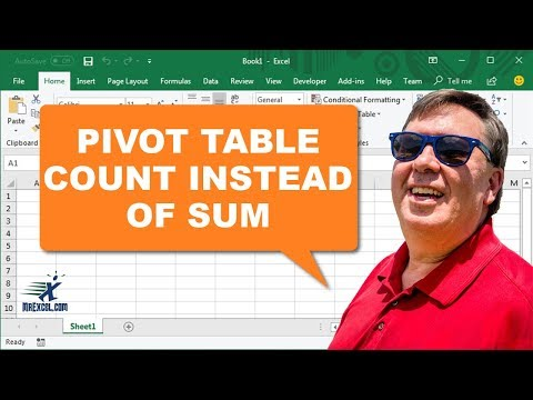 Learn Excel - Count instead of Sum in Pivot Table - Podcast 2195
