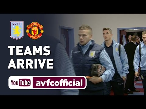 Villa & Man Utd teams arrive at Villa Park
