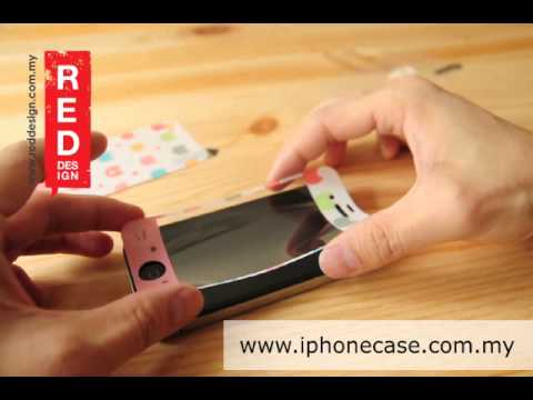Installation MF Screen Protector Sticker Skins for iPhone 4 iPhone 4S