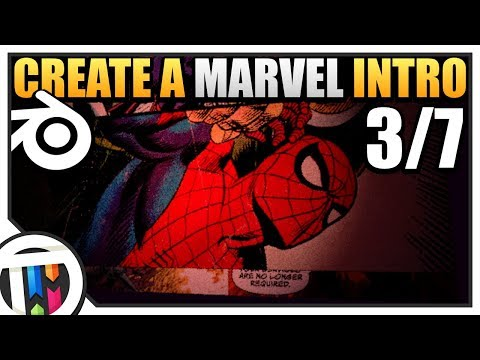 Blender Tutorial - How to make a Marvel Intro - Lighting (3/7)