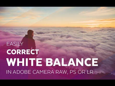Easily Correct White Balance in Adobe Camera RAW, Photoshop or Lightroom