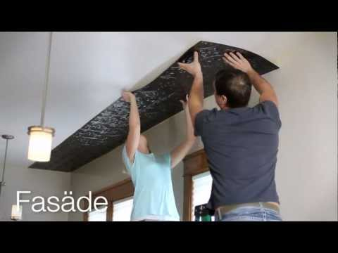 Ceiling Panel Installation-Fasade Glue Up Ceiling Tiles