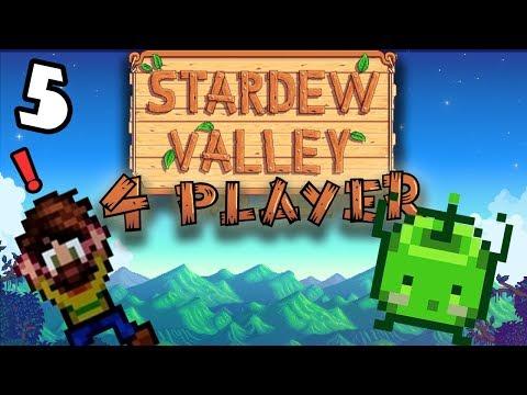 Waving Apples!- #5 -Stardew Valley Multiplayer BETA! (4-Player Gameplay)