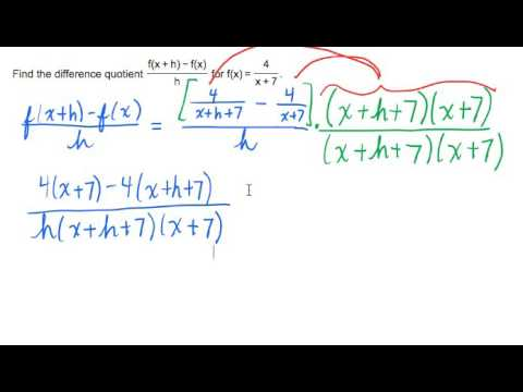 Difference Quotient of a Rational Function