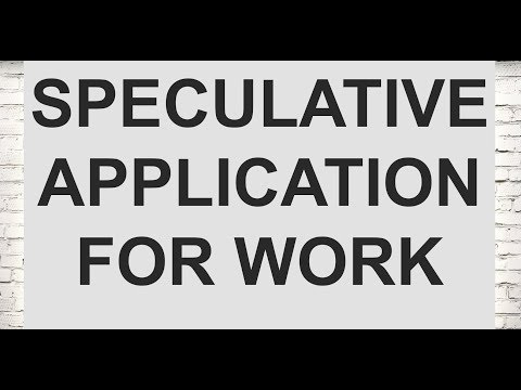 How to make a speculative application for work (Legal Cover Letters Part 9/21)
