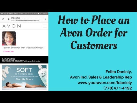 How to Place an Avon Order for Customers