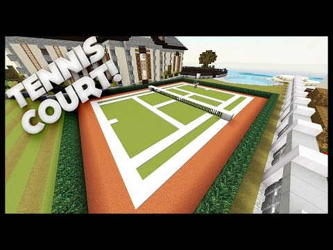 Minecraft - How To Build A Tennis Court