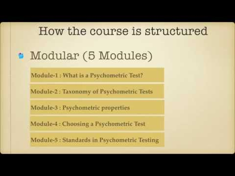 Crash course in Psychometric Testing - Introduction