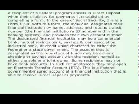 Direct Deposit Cash Advances For Recipients Of Social Security 189