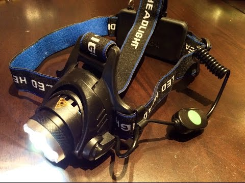 2500lm zoomable CREE LED XM-L T6 Headlamp