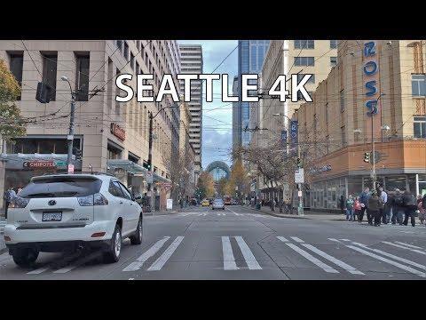 Driving Downtown - Seattle USA 4K