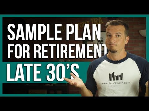 How to invest for retirement at 38❓The sample plan.