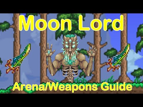 Terraria 1.3.5- Moon Lord Arena and Weapons Guide (Beat Final Boss!)