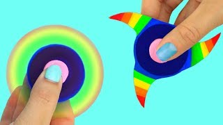 Download 4 IDÉES COMMENT FAIRE UN HAND SPINNER : ARC EN CIEL, BOUCHE, ÉTOILE, ŒIL Video