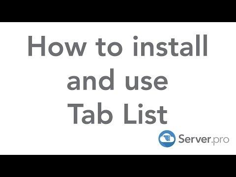 How to Setup Tablist - Server.pro