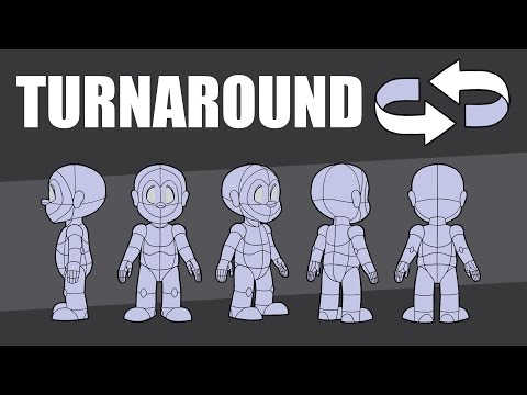 2D Animation-Master the Character Turnaround & Model Sheet