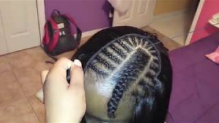 how to sew in hair : folding method