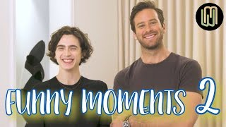 Armie Hammer & Timothée Chalamet - Funny Moments PART 2