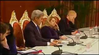 Secretary Kerry in Central Asia - Dushanbe moments - meetings with Rahmon, Aslov