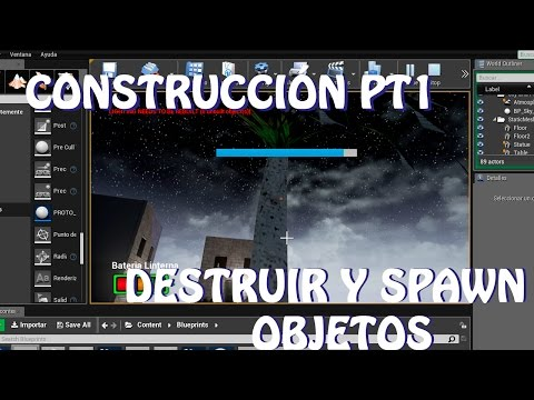Unreal Engine 4: Tutorial CONSTRUIR estilo MINECRAFT PT1, destruir y Spawn Objetos (español)