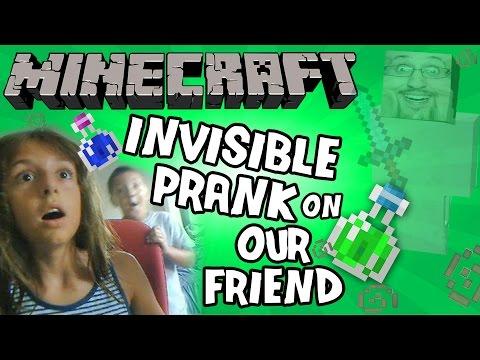 Mike & Lex Prank a Friend w/ Minecraft Invisibility Potion! (FACE CAM)