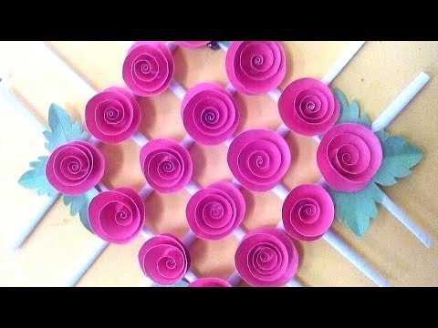 Color Paper wall hanging - Wall hanging craft ideas - Quill Paper Wall Hangers for room decor