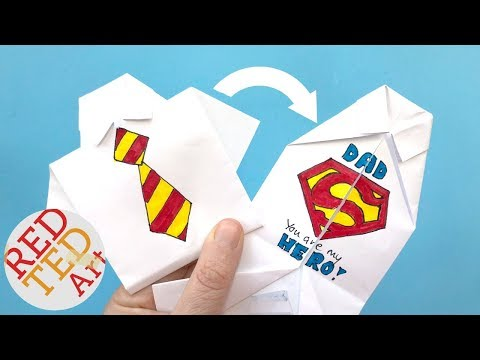 Easy Origami Shirt - How to Draw Superman Logo - Father's Day - collar Rainbow Tinkle's World