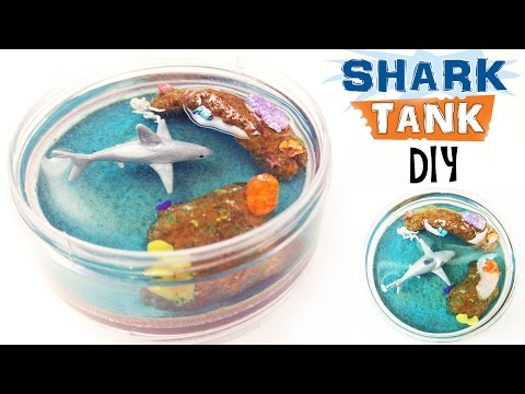 DIY MINIATURE SHARK TANK Resin Polymer Clay Tutorial