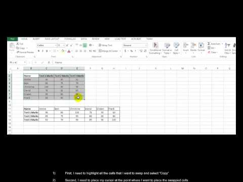 HOWTO: Swap Rows and Columns in Microsoft Excel
