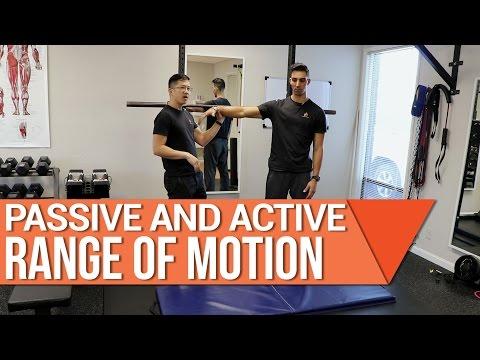 Do you have shoulder arthritis? Shoulder passive range of motion and active range of motion