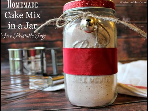 How to Make DIY Homemade Cake Mix in a Jar from Scratch