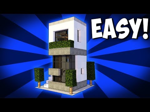 Minecraft: 5X5 Starter House Tutorial - How to Build a Modern House in Minecraft