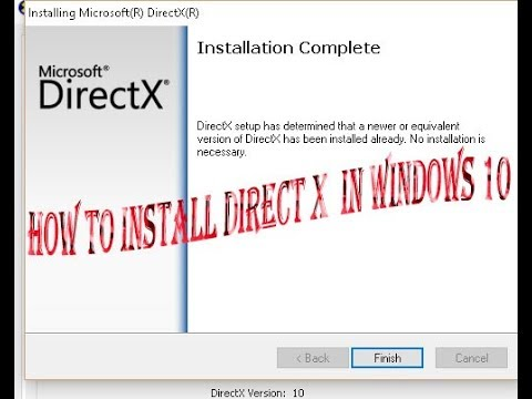 How to install DirectX in windows 10 easy way