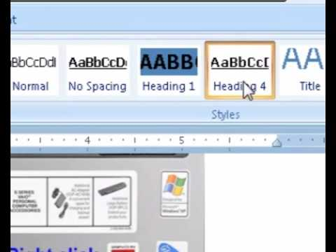 How to link to a title or heading in a word 2007 document