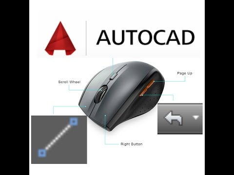 Customize your Mouse buttons to AUTOCAD commands