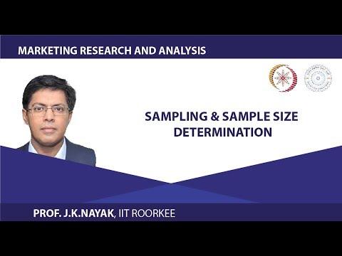 Sampling & Sample Size Determination