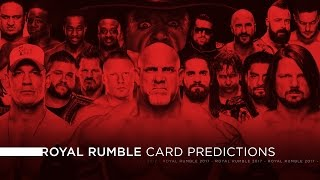 WWE Royal Rumble 2017 - Card Predictions