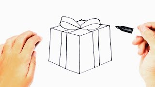 How To Draw A Present Step By Step   Christmas Present Draw