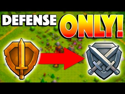 BRONZE TO SILVER LEAGUE DEFENSE ONLY! - Clash of Clans - 300 TROPHIES WITHOUT LOGGING IN!