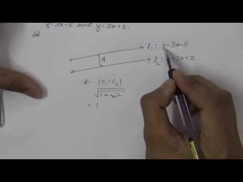 How to Find Distance Between Two Parallel Lines (Hindi) | Part 2