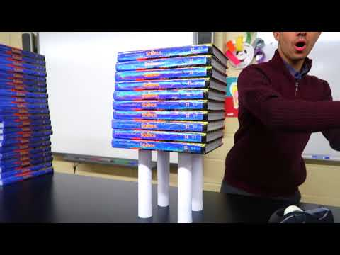 GIANT PAPER BOOK TOWER STACKING CHALLENGE! Cool Science Experiment