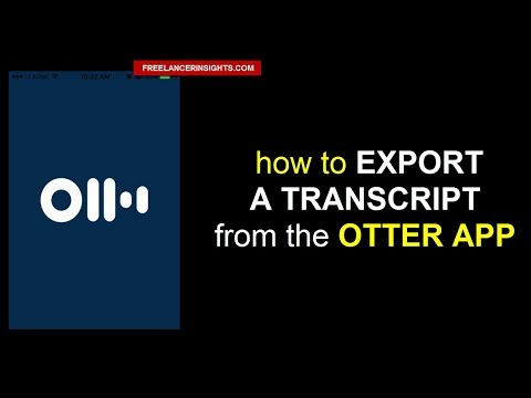 How to Export a Transcript from the Otter App on your Smartphone