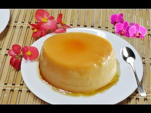 Easy Homemade Caramel Custard or Cream Custard - Fast Flan Video Recipe by Bhavna
