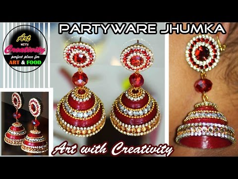 How to make Paper Earrings | made out of paper | Art with Creativity 165