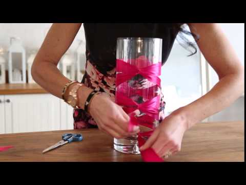 DIY Ribbon Corset Vase
